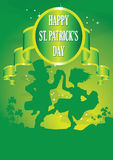 Leprechauns dancing Stock Images