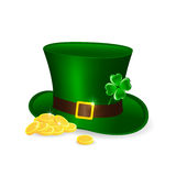 Leprechauns hat and coins Royalty Free Stock Images