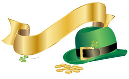 Leprechauns hat with ribbon Royalty Free Stock Photo