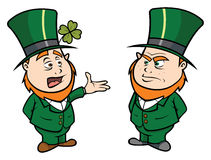 Leprechauns talking royalty free illustration