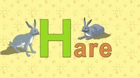 lepri Alfabeto inglese dello ZOO - lettera H illustrazione di stock