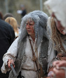 Leprous woman. During Week-end de L'ascension-Grand Fete medievale in Nogent de Rotrou, France, 13-16.05.2010 Royalty Free Stock Photo