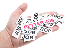 Lepsza praca, nowa praca, odgórna praca obraz royalty free