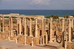 leptis Λιβύη μεγάλη Τρίπολη αμφιθεάτρων Στοκ φωτογραφία με δικαίωμα ελεύθερης χρήσης