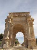 Leptis Magna. Arch of Septimus Severus in Leptis Magna stock photos