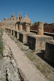 Leptis Magna. Ruins of the Roman city Leptis Magna, Libya stock photo