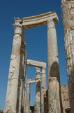 Leptis Magna. Ruins of the Roman city Leptis Magna, Libya stock photos