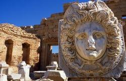 Leptis Magna Archeology Ruins - Libyen arkivfoton