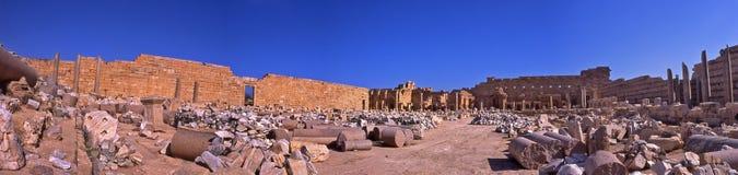Leptis Magna Archeology Ruins - Libyen fotografering för bildbyråer