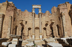 Leptis magna. The ruins of leptis magna royalty free stock photo