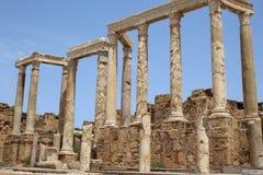 Leptis Magna Ruins foto de archivo libre de regalías