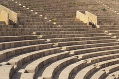 Leptis Magna theater. Theater seats in Leptis Magna royalty free stock image