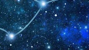 Lepus de constellation (Lep) banque de vidéos