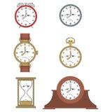Ler den olyckliga klockaframsidan för tecknade filmen 012 Royaltyfri Fotografi