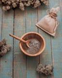 lera för framsidan, omsorgskönhetsmedel arkivbild