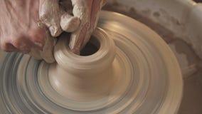 Lera för handtag för speciala hjälpmedel för keramiker arkivfilmer