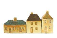 lera houses little Royaltyfri Bild