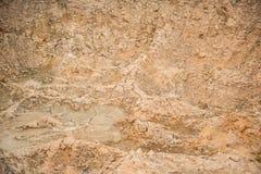 Lera och sand i villebrådet Arkivbilder