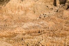 Lera och sand i villebrådet Fotografering för Bildbyråer