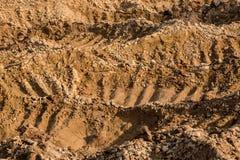 Lera och sand i villebrådet Royaltyfri Bild
