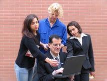 Leraar & Studenten Stock Foto