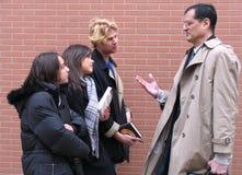 Leraar & Studenten Stock Fotografie