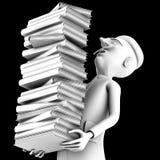 Leraar carryng een pak geschiedenisboeken Stock Foto's