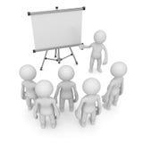 Leraar die aan lege witte raad richten stock illustratie