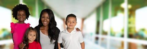 Leraar And Her Students royalty-vrije stock foto