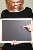 Leraar met bord royalty-vrije stock afbeelding