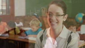 leraar met klaslokaalanimatie