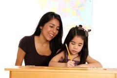 Leraar met Student Stock Foto
