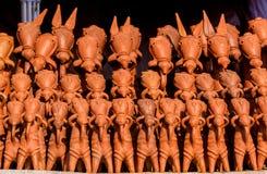 Lerahästar av Bankura royaltyfri foto