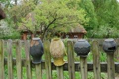 Lerakrukor i det frilufts- museet, Polen Royaltyfria Foton