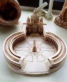 Leramodell, Roman Classic arkitektur royaltyfri fotografi
