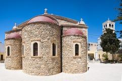 Lerapetra church of Saint George fisheye pano Royalty Free Stock Photo