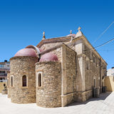 Lerapetra church of Saint George square compo Royalty Free Stock Image