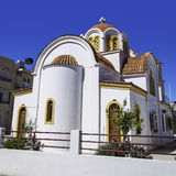 Lerapetra church square Royalty Free Stock Images