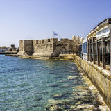 Lerapetra fort square composition Stock Photography