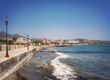 Lerapetra seaside promenade Royalty Free Stock Photo