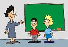 Leraren en leerlingen stock illustratie