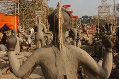 leraskulpturer Arkivbilder