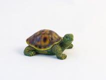 Lerastatyetter av den krypande sköldpaddan royaltyfri bild