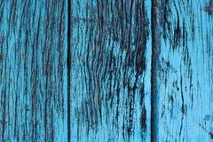 Lerciume blu della bella natura e fondo di legno sporco di struttura Immagini Stock