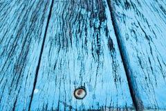 Lerciume blu della bella natura e fondo di legno sporco di struttura Fotografia Stock