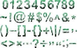 Lerciume composto Cifre verdi di pendenza ed altri elementi illustrazione vettoriale