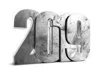 lerciume 2019 del metallo scrivere del nuovo anno illustrazione di stock