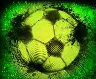 Lerciume del pallone da calcio Immagine Stock Libera da Diritti