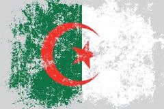 Lerciume dell'Algeria, vecchia, bandiera graffiata di stile Fotografie Stock Libere da Diritti