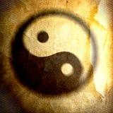 Lerciume dell'annata di yin yang fotografia stock